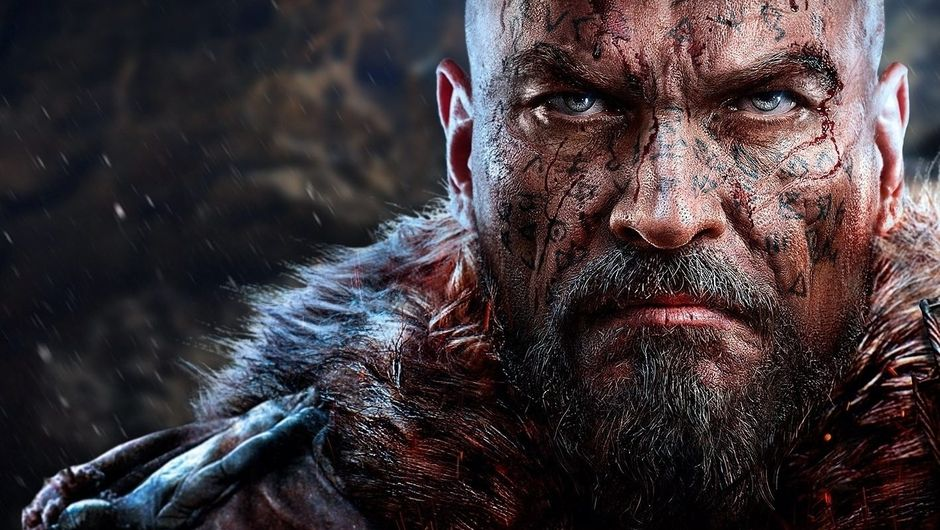 lords of the fallen artwork showing a bald warrior with tattoos on his face