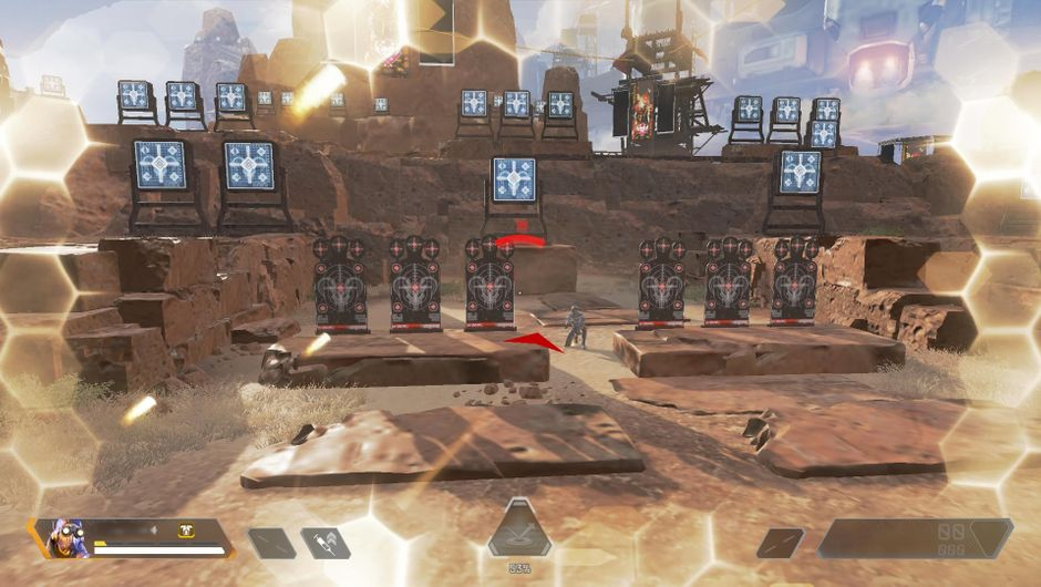 Apex Legends dummies shooting back in Firing Range