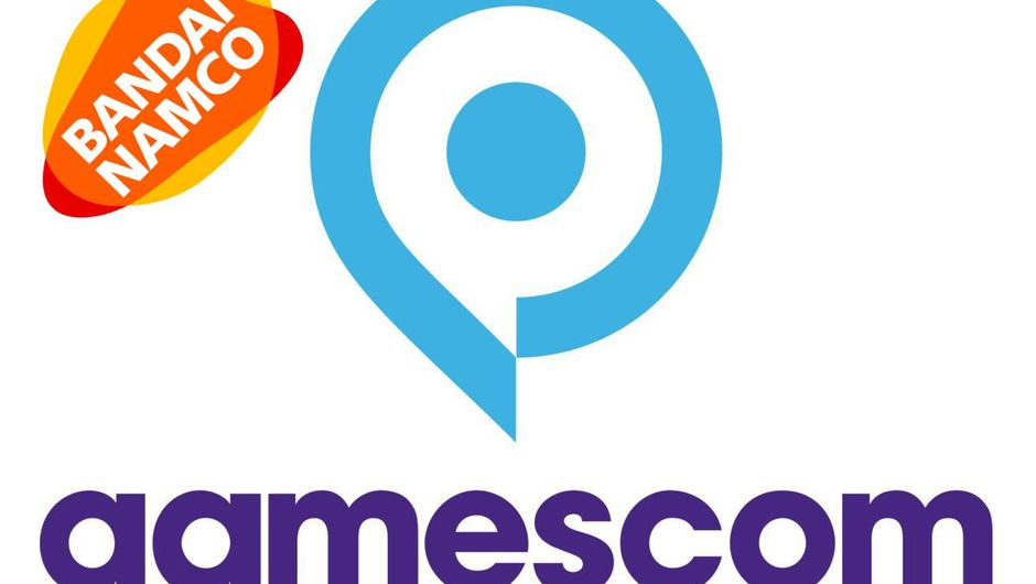 Logo of Gamescom event along with the logo of Bandai Namco Entertainment