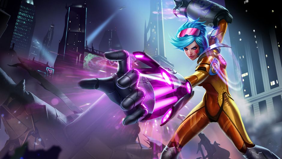 Picture of the Neon Strike Vi skin in League of Legends
