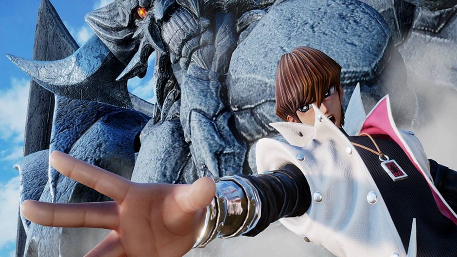 Seto Kaiba ordering Obelisk the Tormentor to attack in Jump Force.