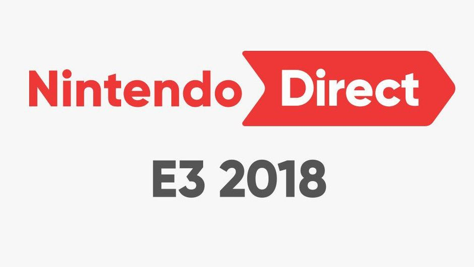 Nintendo Direct E3 2018 announcement image on a white background