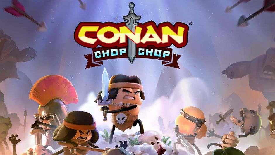 Cartoony Conan the Barbarian from Conan Chop Chop