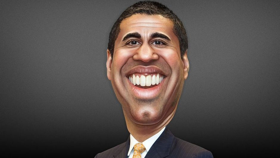 A caricature of a caricature politician that killed net neutrality.