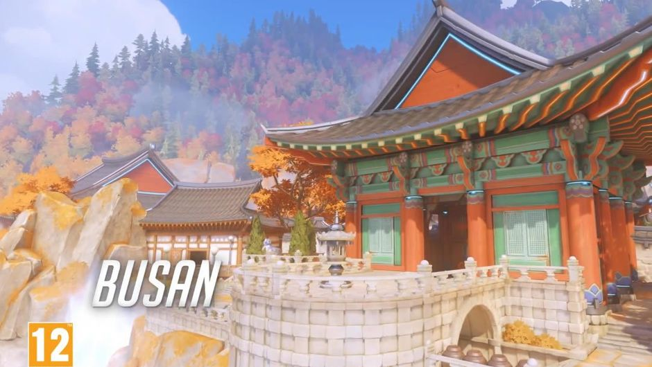 Screenshot from Blizzard's trailer introducing CP Busan map to Overwatch