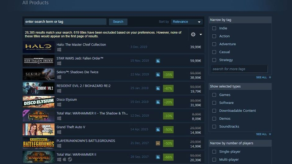 The Witcher 3 in top 10 best selling Steam games