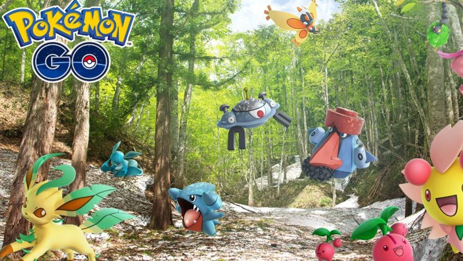 Promotional image of Gen 4 Pokemon in Pokemon Go