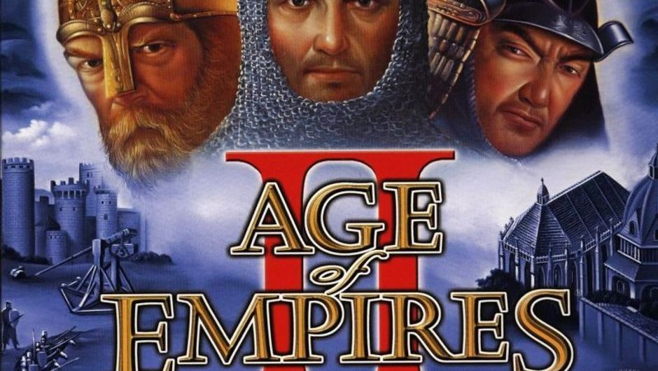 Age of Empires 2: Age of Kings box cover image showing game title and 3 historical dudes