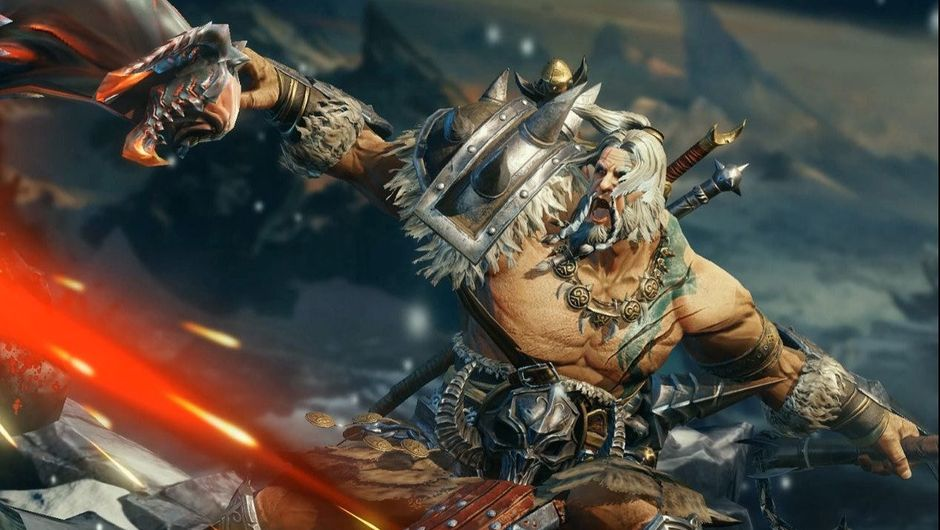 Picture of the Barbarian from the Diablo Immortal trailer
