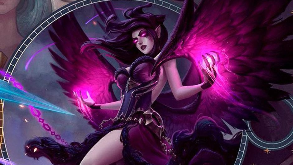 Picture of the new splash art for Morgana in League of Legends
