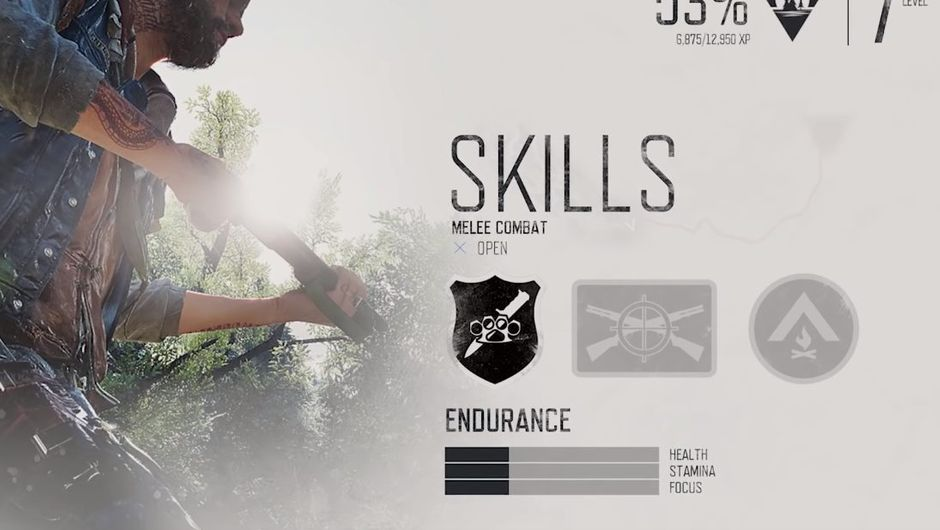 picture showing days gone menu screen