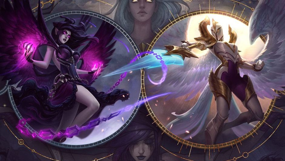 Picture of Kayle and Morgana from the visual update promo image