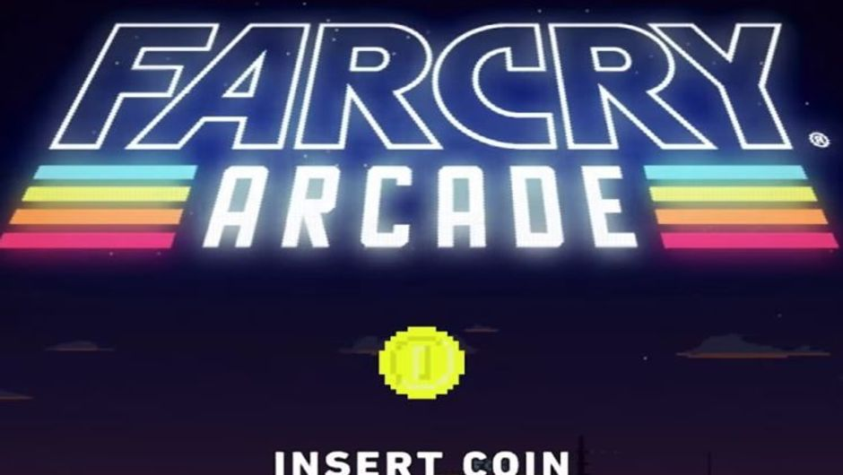 Far Cry Arcade title screen made in the style suggested in the name - Arcade.