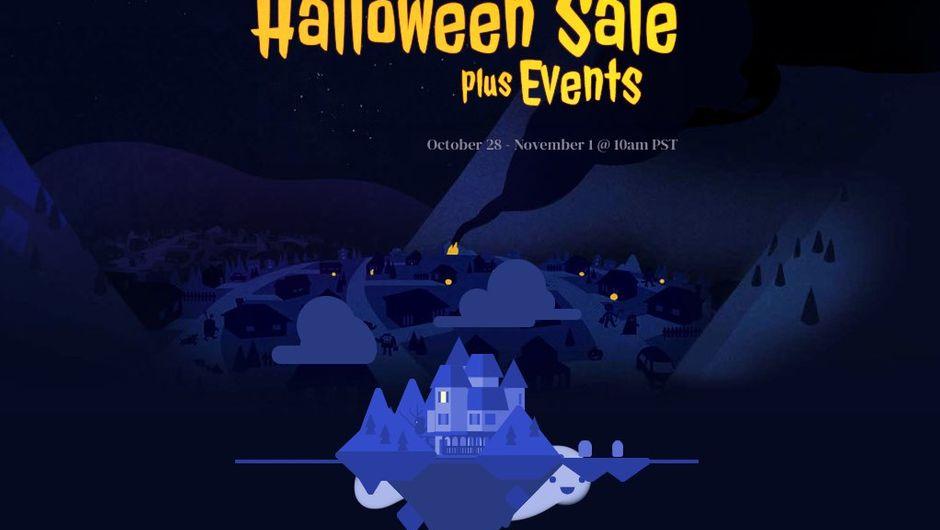 artwork showing steam halloween sale