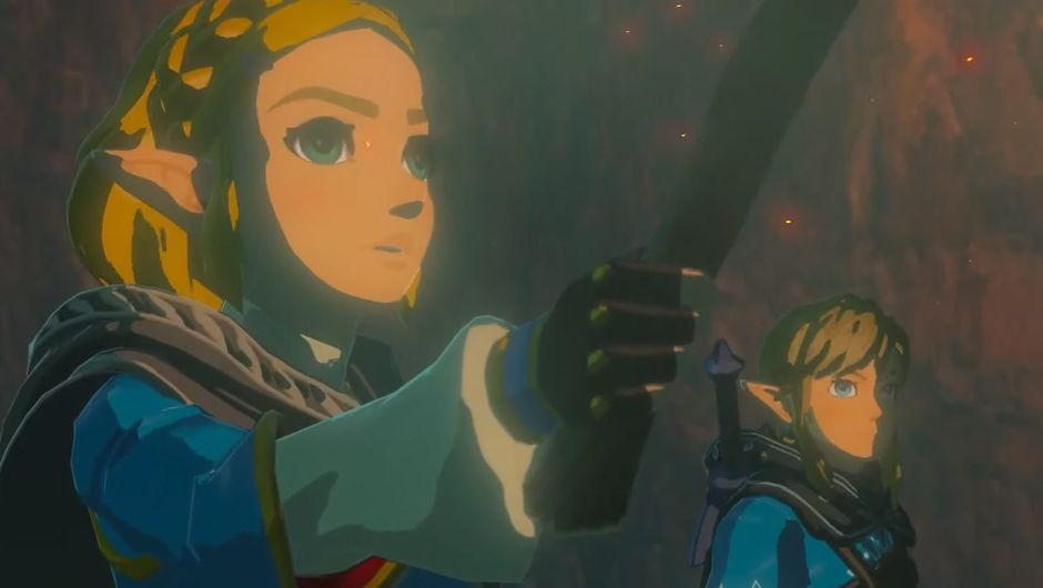 Zelda: Breath of the Wild 2 screenshot showing link and zelda