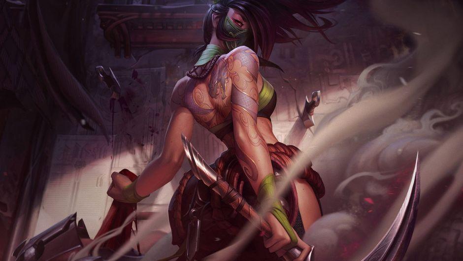Splash art for Akali, after her rework by Riot Games