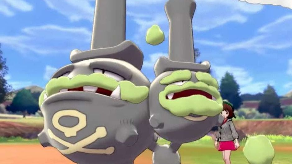 Picture of Galarian Weezing in Pokemon Sword & Shield
