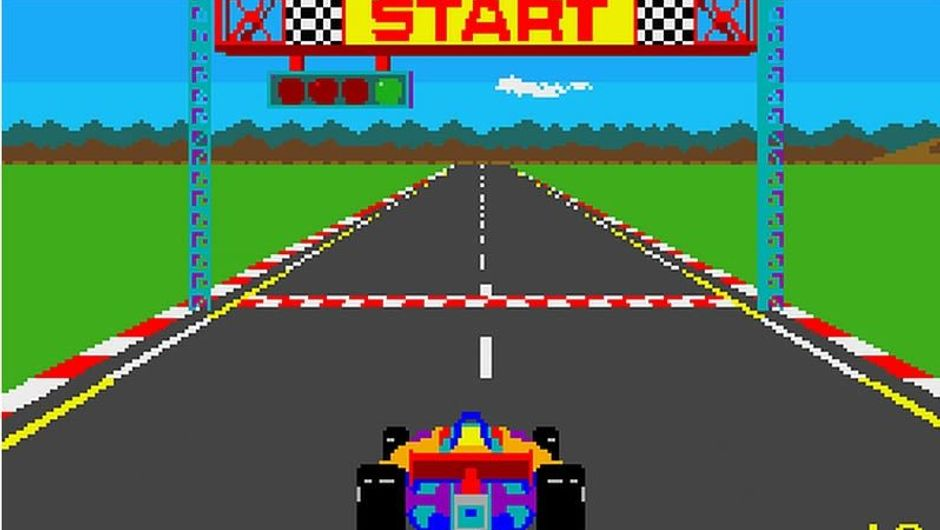 Namco's legendary game Pole Position, published by Atari