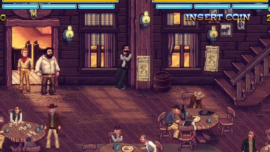 Picture of Bud Spencer & Terrence Hill entering a saloon