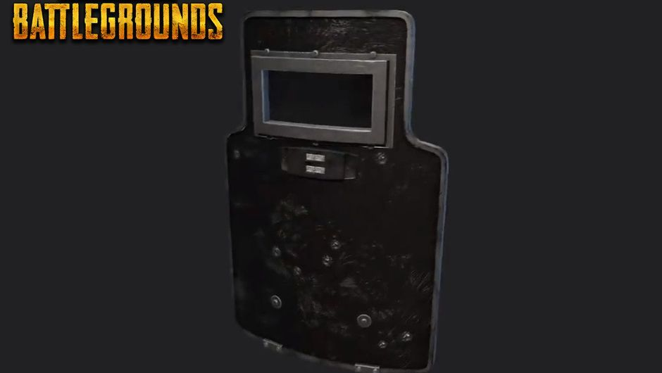 Screenshot of a ballistic shield that's coming to PlayerUnknown's Battlegroiunds