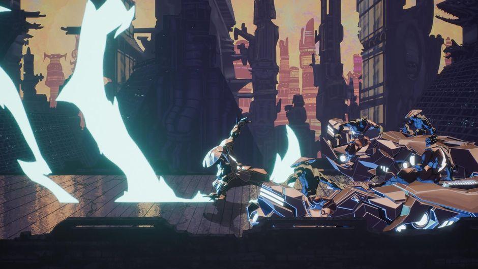 Aeon Must Die! protagonist fighting enemies