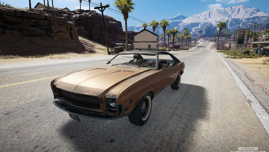 Screenshot of the Mirado, a new car for Miramar map in PUBG.