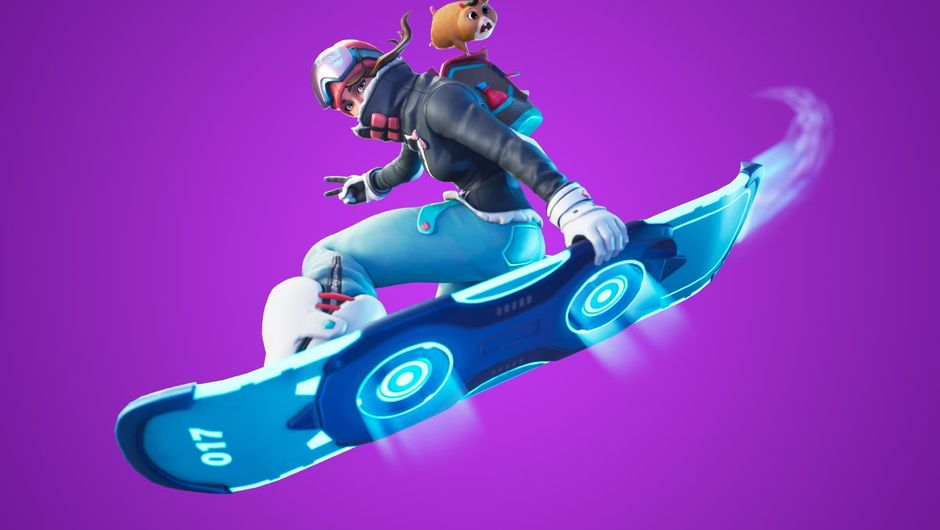 Fortnite's newly added means of transportation - the drift board