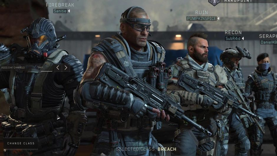 Hardpoint lobby in Call of Duty: Black Ops 4.