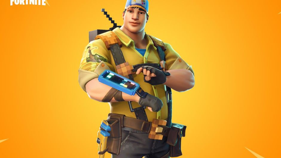 Fortnite: Battle Royale's newly added skin called 8-Bit Demo