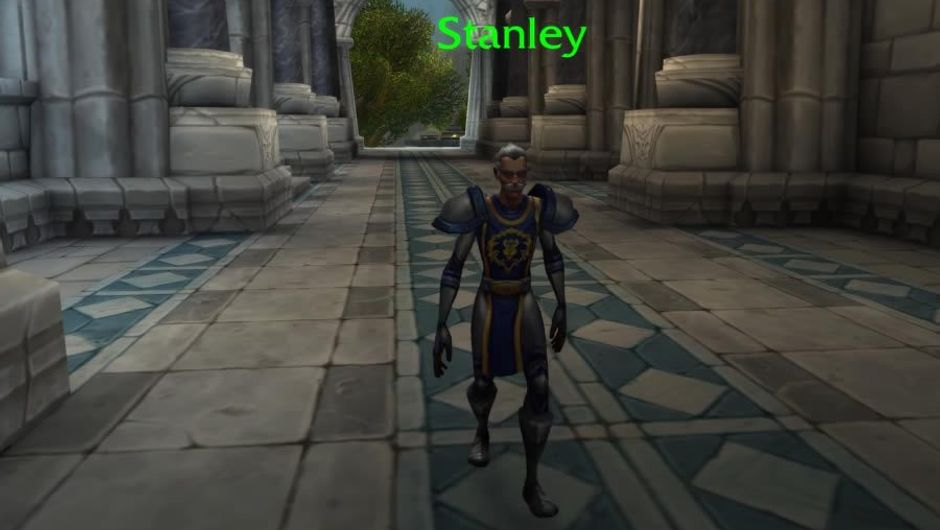 Stan Lee in Stormwind Keep from World of Warcraft