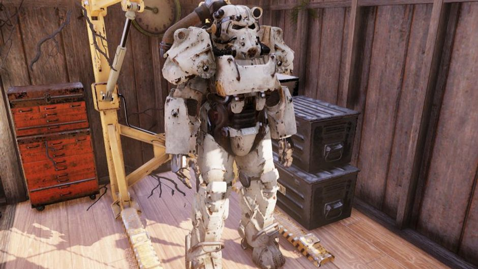 picture showing power armor suit from fallout 76