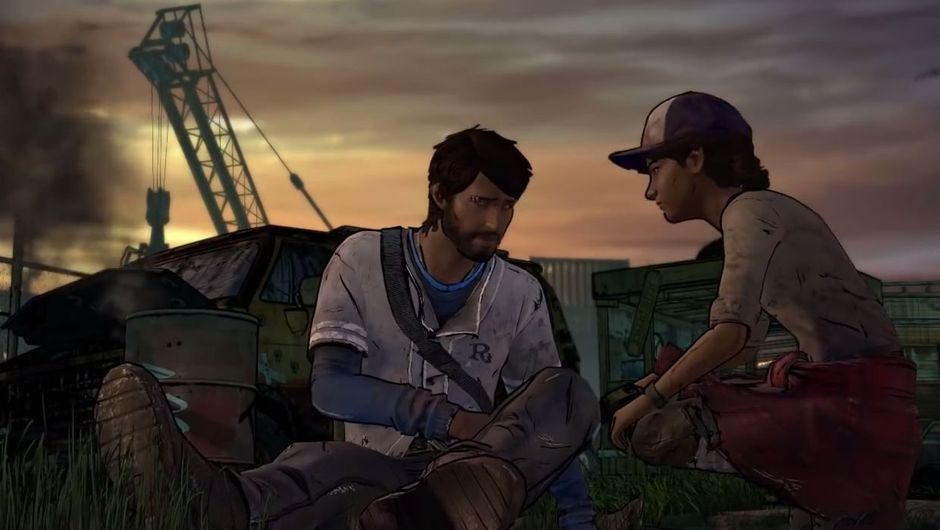 Picture of some people in The Walking Dead game