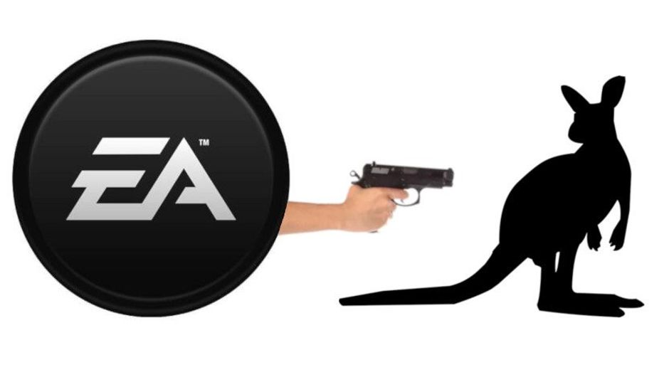 Electronic Arts are figuratively shooting a symbol of Australia