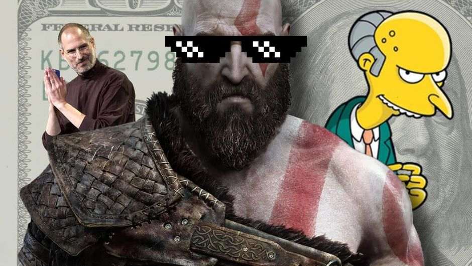 Kratos from God of War, Mr. Burns from Simpsons and Steve Jobs