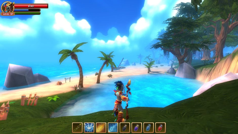The Turtle Beach area of Tanzia's world