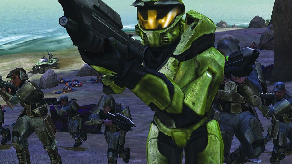 Picture of Master Chief with some level one crooks