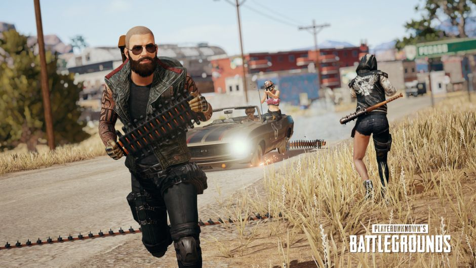 PUBG screenshot showing combat with spike traps