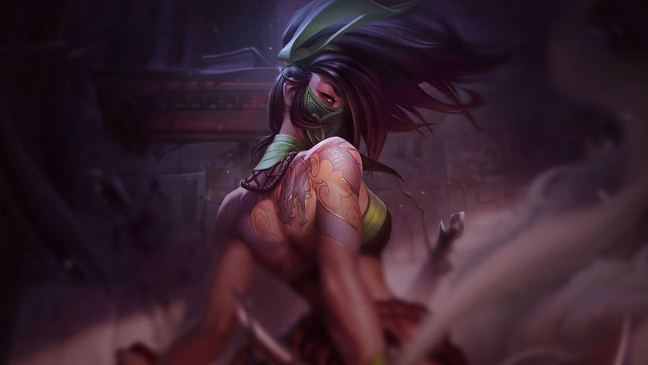 Picture of Akali in League of Legends