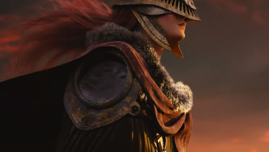 screenshot from elden ring showing a red hair female warrior