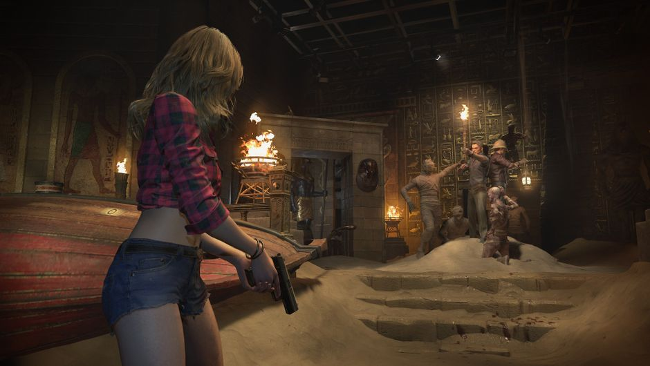 Resident Evil Resistance screenshot showing becca in Abandoned Park