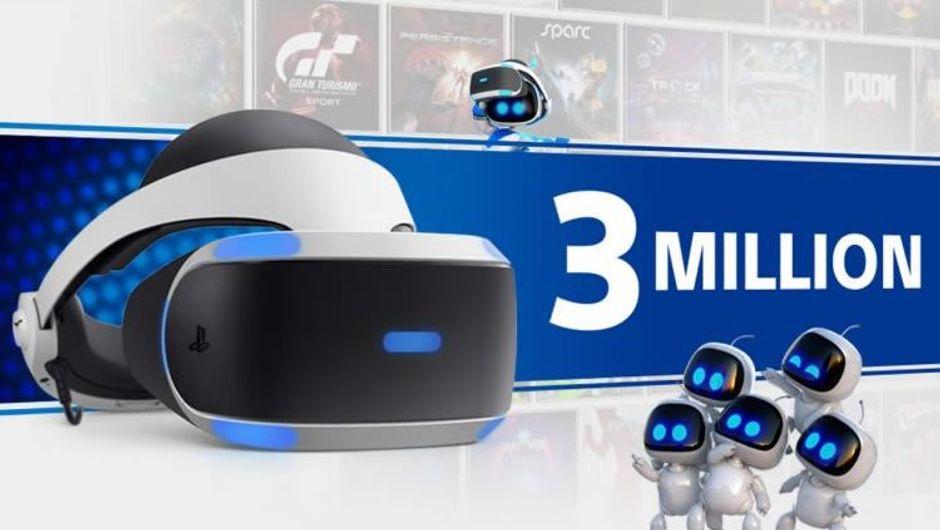 Sony's poster celebrating the milestone of 3 million PSVR units sold