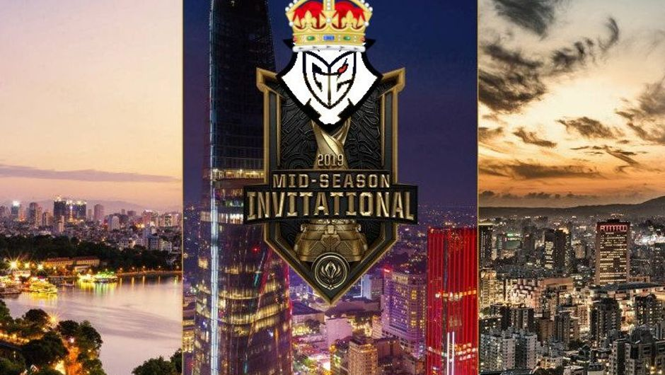 Picture of the promotional MSI 2019 image with G2 logo